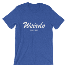 Weirdo Unisex T-Shirt, Collection Nicknames-Heather True Royal-S-Tamed Winds-tshirt-shop-and-sailing-blog-www-tamedwinds-com