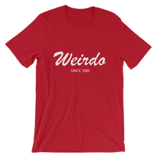 Weirdo Unisex T-Shirt, Collection Nicknames-Red-S-Tamed Winds-tshirt-shop-and-sailing-blog-www-tamedwinds-com