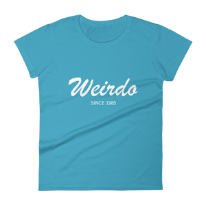 Weirdo Women's Round Neck T-Shirt, Collection Nicknames-Caribbean Blue-S-Tamed Winds-tshirt-shop-and-sailing-blog-www-tamedwinds-com