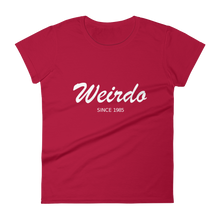 Weirdo Women's Round Neck T-Shirt, Collection Nicknames-Red-S-Tamed Winds-tshirt-shop-and-sailing-blog-www-tamedwinds-com