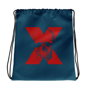 X Skull Drawstring Bag, Collection Jolly Roger-Tamed Winds-tshirt-shop-and-sailing-blog-www-tamedwinds-com