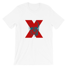 X Skull Unisex T-Shirt, Collection Jolly Roger-White-S-Tamed Winds-tshirt-shop-and-sailing-blog-www-tamedwinds-com