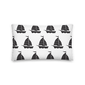 Yacht Decorative Pillow, Collection Ships & Boats-Tamed Winds-tshirt-shop-and-sailing-blog-www-tamedwinds-com