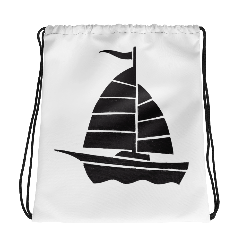 Yacht Drawstring Bag, Collection Ships & Boats-Tamed Winds-tshirt-shop-and-sailing-blog-www-tamedwinds-com