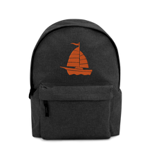 Yacht Embroidered Backpack, Collection Ships & Boats-Tamed Winds-tshirt-shop-and-sailing-blog-www-tamedwinds-com