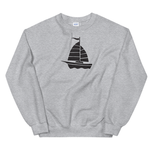 Yacht Unisex Crewneck Sweatshirt, Collection Ships & Boats-Sport Grey-S-Tamed Winds-tshirt-shop-and-sailing-blog-www-tamedwinds-com