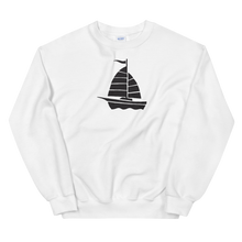 Yacht Unisex Crewneck Sweatshirt, Collection Ships & Boats-White-S-Tamed Winds-tshirt-shop-and-sailing-blog-www-tamedwinds-com