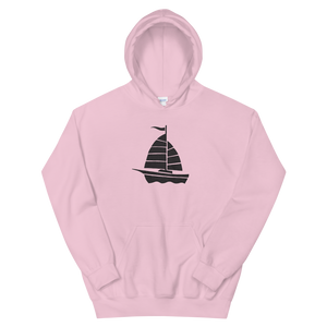 Yacht Unisex Hooded Sweatshirt, Collection Ships & Boats-Light Pink-S-Tamed Winds-tshirt-shop-and-sailing-blog-www-tamedwinds-com