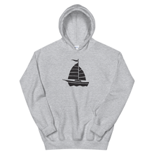 Yacht Unisex Hooded Sweatshirt, Collection Ships & Boats-Sport Grey-S-Tamed Winds-tshirt-shop-and-sailing-blog-www-tamedwinds-com