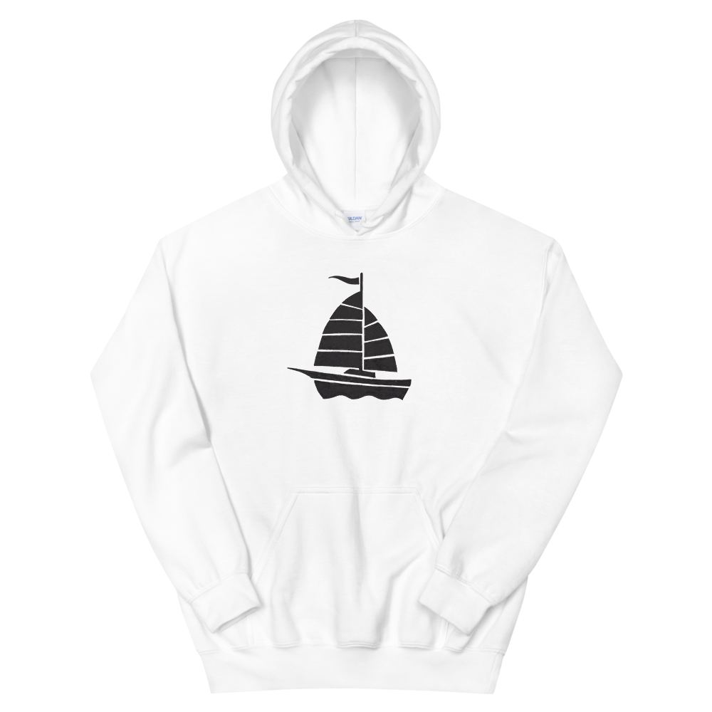 Yacht Unisex Hooded Sweatshirt, Collection Ships & Boats-White-S-Tamed Winds-tshirt-shop-and-sailing-blog-www-tamedwinds-com