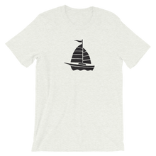 Yacht Unisex T-Shirt, Collection Ships & Boats-Ash-S-Tamed Winds-tshirt-shop-and-sailing-blog-www-tamedwinds-com