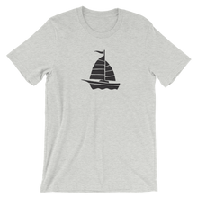 Yacht Unisex T-Shirt, Collection Ships & Boats-Athletic Heather-S-Tamed Winds-tshirt-shop-and-sailing-blog-www-tamedwinds-com