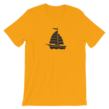 Yacht Unisex T-Shirt, Collection Ships & Boats-Gold-S-Tamed Winds-tshirt-shop-and-sailing-blog-www-tamedwinds-com