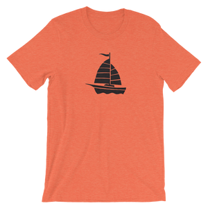 Yacht Unisex T-Shirt, Collection Ships & Boats-Heather Orange-S-Tamed Winds-tshirt-shop-and-sailing-blog-www-tamedwinds-com