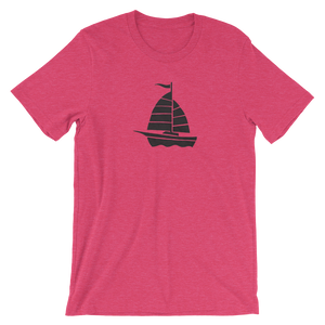 Yacht Unisex T-Shirt, Collection Ships & Boats-Heather Raspberry-S-Tamed Winds-tshirt-shop-and-sailing-blog-www-tamedwinds-com