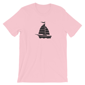 Yacht Unisex T-Shirt, Collection Ships & Boats-Pink-S-Tamed Winds-tshirt-shop-and-sailing-blog-www-tamedwinds-com