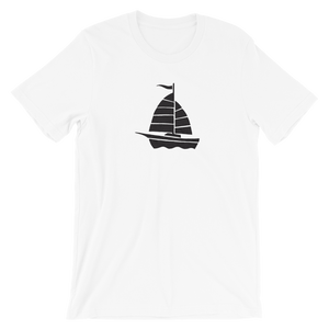 Yacht Unisex T-Shirt, Collection Ships & Boats-White-XS-Tamed Winds-tshirt-shop-and-sailing-blog-www-tamedwinds-com