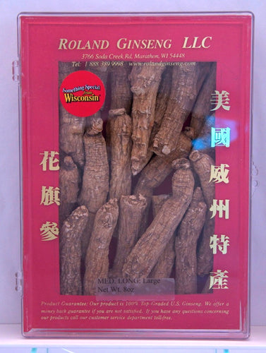 Roland American Ginseng Medium Long Large Package 8oz