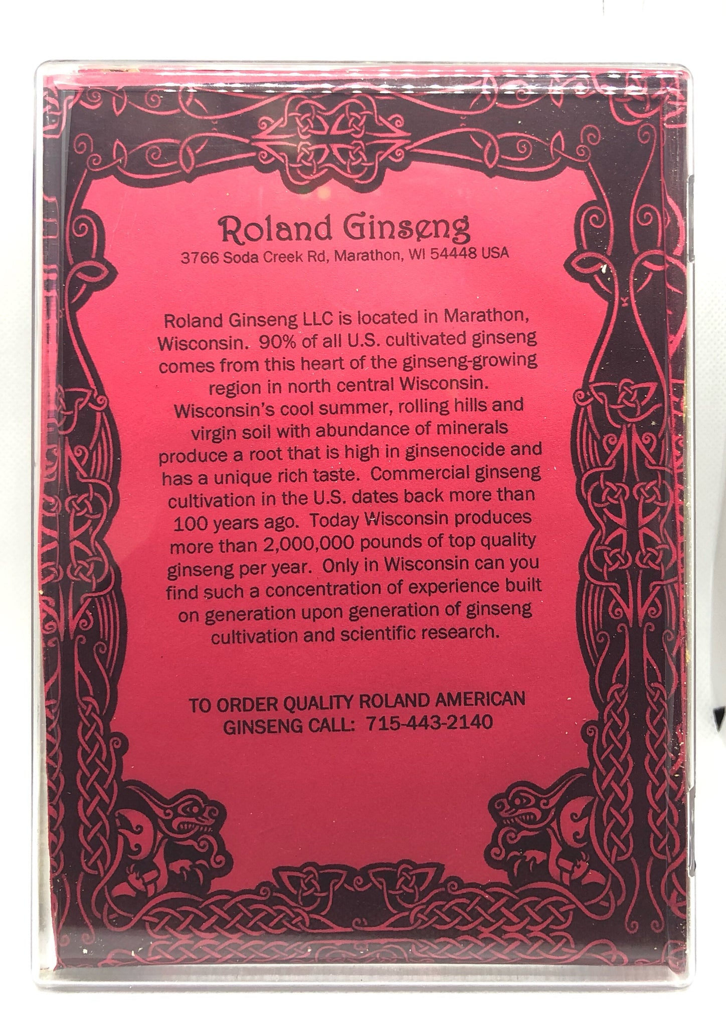 Roland American Ginseng Medium Long Small Package 8oz