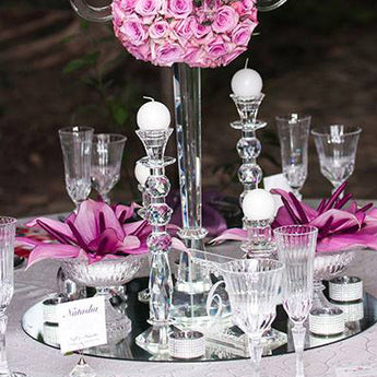 Crystal Candlestick 30cm
