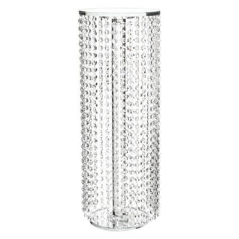 Cascading Beaded String Crystal Flower Stand