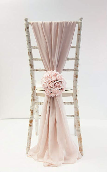 Chiffon Chair Tiebacks, chair tie backs, chair decor, Chiffon Vertical Drapes, Luxury, Beautiful, chic,