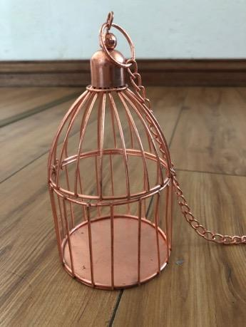 Rose Gold Bird Cage
