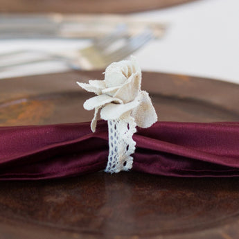 Burlap Lace Napkin Ring