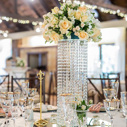 Crystal Cascading Centrepiece - No Flowers