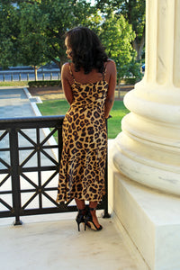 Jazmine Leopard Midi Slip Dress