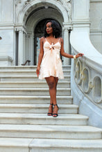 Load image into Gallery viewer, Chante Champagne Satin Cutout Dress