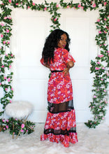Load image into Gallery viewer, Milady Fuchsia Floral Lace Maxi Dress