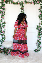 Load image into Gallery viewer, Fuchsia Orange Floral Maxi Dress