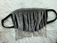 Load image into Gallery viewer, Luxe Nights Rhinestone Fringe Mask