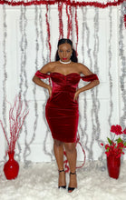 Load image into Gallery viewer, Red Velvet Mesh Dress