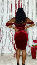 Load image into Gallery viewer, Red Velvet Holiday Dress