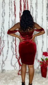 Red Velvet Holiday Dress