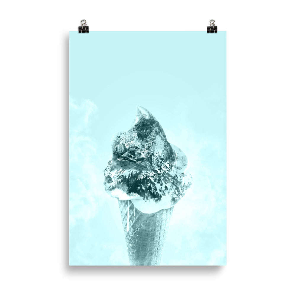 Ice Cream Mountain (Turquoise Sky Blue)
