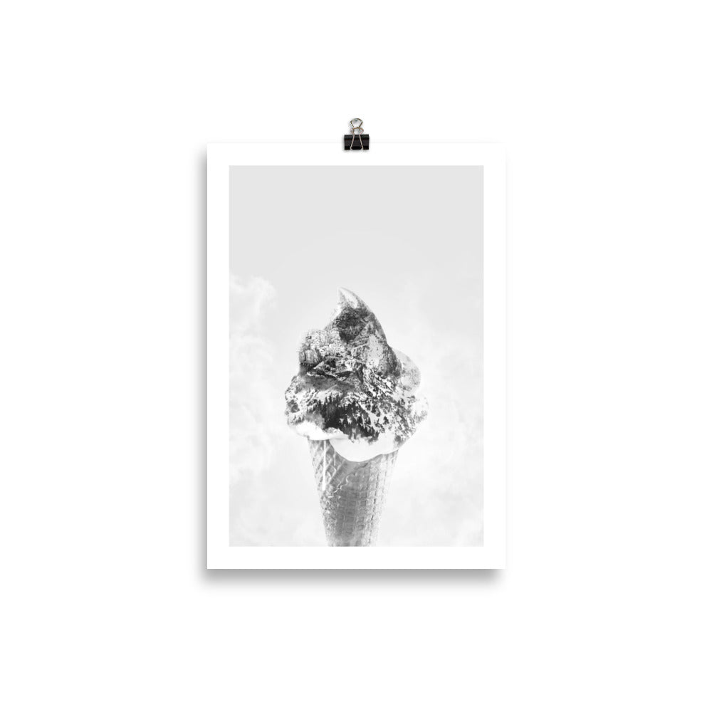 Ice Cream Mountain (Mono Chrome)