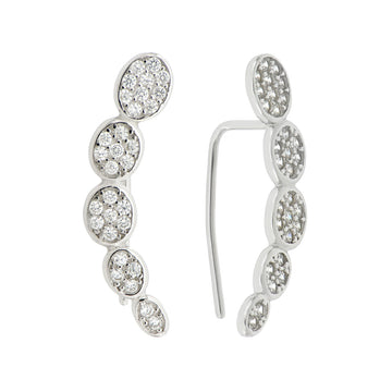 EAR CUFF OVAL ZIRCONIA