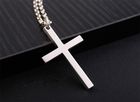 Christian Cross - Simple 925 Sterling Silver