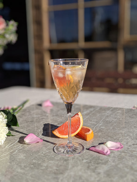 Georgie's Rosé Gin cocktail: Grapefruit & Chamomile 🍊