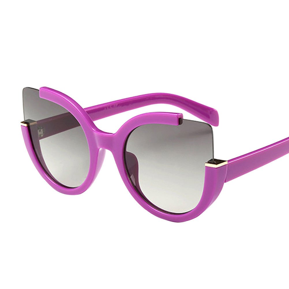 Lady Cateyes Fashion High Open Top Cat Eye Sunglasses Glasses