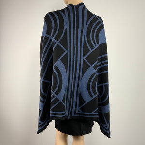 Deco Cape Black & Denim