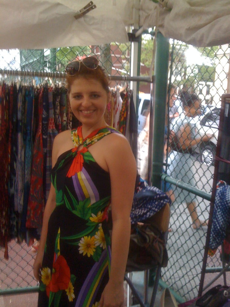 Brooklyn Flea wearing 1970's vintage