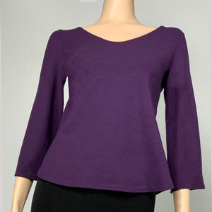Solid Ava Top Flared Sleeve