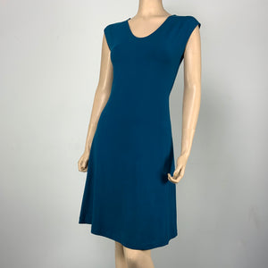 Teal Bamboo/Cotton Katie Dress