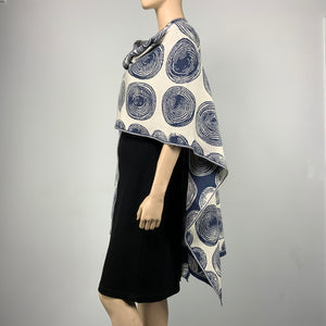 Spirals Cape Denim and Cream