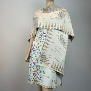 Silk Jersey Hand Painted Dress: individually painted by Sharon