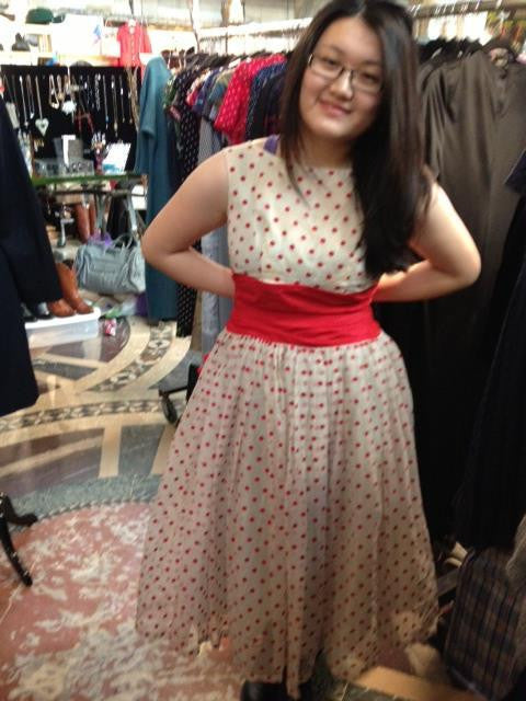 brooklyn flea vintage 1950's polka-dot dress